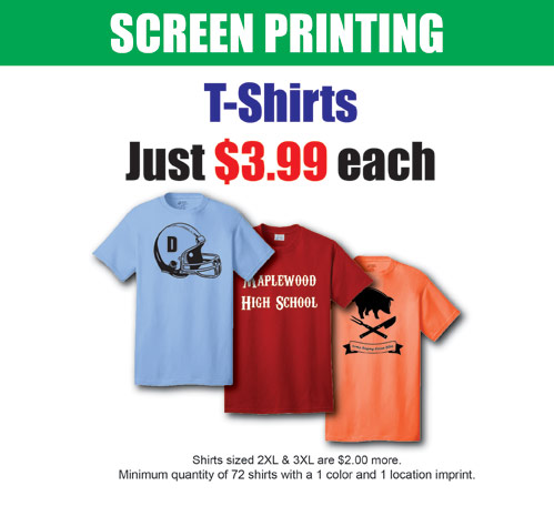 Special Shirt Screen Printing Pricing