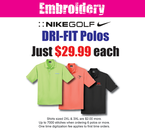 Special Shirt Embroidery Pricing