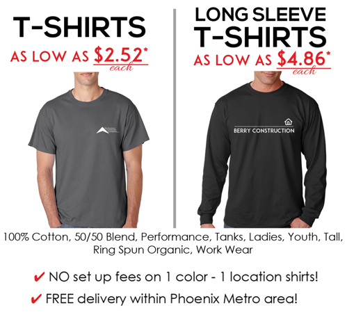 Special Shirt Pricing